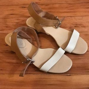 See by Chloe Leather Clear Heel Wrap Sandals 7.5